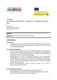 Protokoll 10. Arbeitskreis WIRTSCHAFT – MOBILITÄT ... - Retz