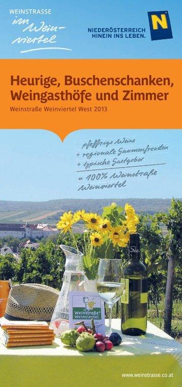 Buschenschank-Kalender 2013 - Retzer Land