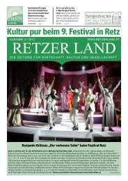 Kultur pur beim 9. Festival in Retz - Retzer Land