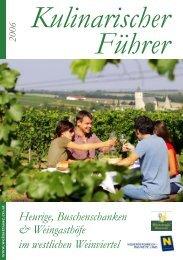 Heurige, Buschenschanken & Weingasthöfe im westlichen Weinviertel
