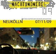 mit dem chauffeur durch die neuköllner kunstszene - Reuter Quartier