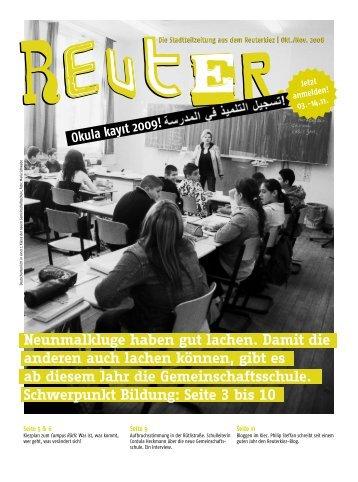 Die Stadtteilzeitung aus dem Reuterkiez - Reuter Quartier