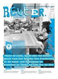 Kunst ist schön, macht aber viel Arbeit!« sprach ... - Reuter Quartier