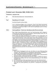 Protokoll vom 6. November 2006, 19:00-21:45 h - Reuter Quartier
