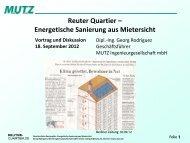 Energetische Sanierung aus Mietersicht Vortrag ... - Reuter Quartier