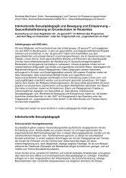 Interkulturelle Sexualpädagogik und Bewegung ... - Reuter Quartier