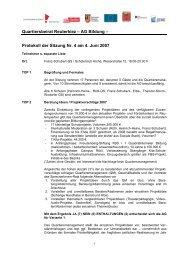Quartiersbeirat Reuterkiez – AG Bildung ... - Reuter Quartier