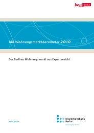IBB Wohnungsmarktbarometer 2010 - Investitionsbank Berlin