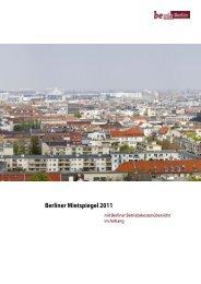 Berliner Mietspiegel 2011 - Reuter Quartier