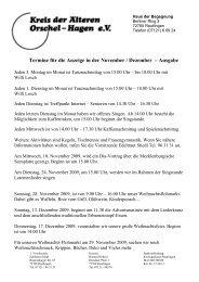 Termine für die Anzeige in der November / Dezember – Ausgabe