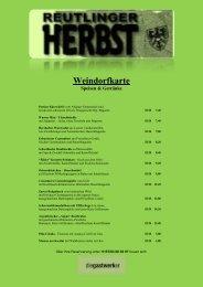 Weindorfkarte - beim Reutlinger Weindorf