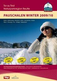PAUSCHALEN WINTER 2009/10 - Reutte