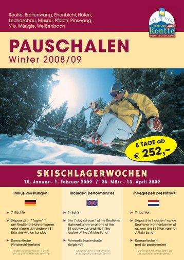 PAUSCHALEN - Reutte.com