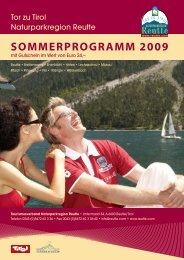 SOMMERPROGRAMM 2009 - Reutte