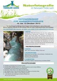 Detailinfos PDF [3 MB] - Naturpark Tiroler Lech