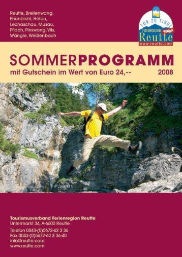 Sommerprogramm 2008 - Reutte