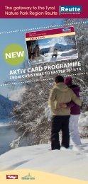 Aktiv Card Programme Winter 2013/2014 (2.4 MB) - Reutte