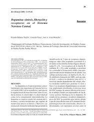 síntesis, liberación y receptores en el Sistema Nervioso Central.