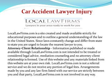 Car Accident Lawyer Injury