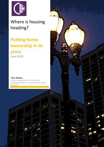 Policy essay 8 - Putting home ownership in its place - June 2014