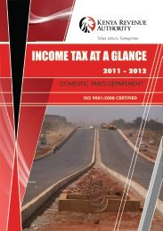 INCOME TAX AT A GLANCE.cdr - Kenya Revenue Authority