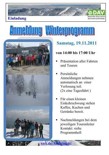 Samstag, 19.11.2011 von 14:00 bis 17:00 Uhr