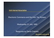 Tax and E-Commerce - The Practitioner Perspective