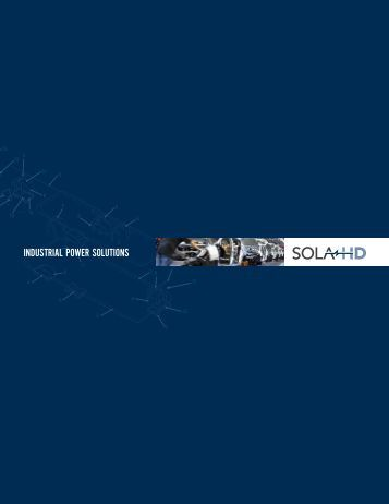 Sola HD Solutions Brochure - Allied Electronics