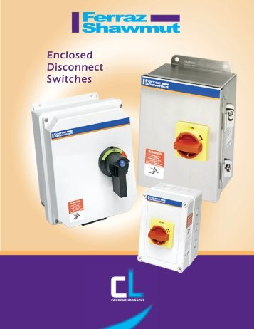 Enclosed Disconnect Switches - Revere Electric