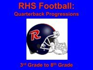 RHS Football: - Revere Local Schools