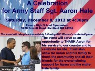 A Celebration for Army Staff Sgt. Aaron Hale - Revere Local Schools