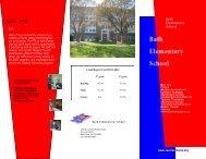 Bath Elementary School Brochure - Revere Local Schools