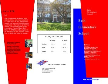 Bath Elementary School Brochure - Revere Local Schools