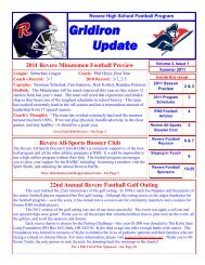 Gridiron Update Volume 3-Issue 1 (Summer 2011 - Revere Local ...