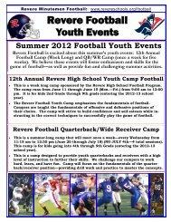 Revere Football - Revere Local Schools