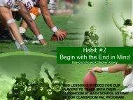 Habit #2 Begin with the End in Mind - Revere Local Schools