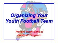 Organizing Your Youth Football Team - Revere Local Schools