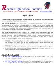 evere High School Football - Revere Local Schools