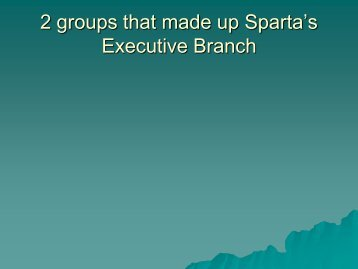 2 groups that made up Sparta's Legislative Branch - Revere Local ...