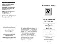 2011-2012 Gifted Testing Brochure - Revere Local Schools