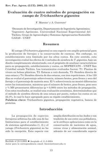 Evaluación de cuatro métodos de propagación en campo de ...