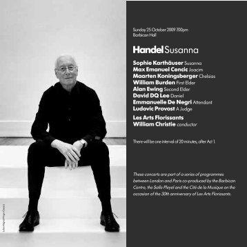Handel Susanna - Barbican
