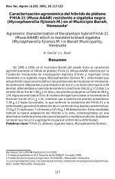 Caracterización agronómica del híbrido de plátano FHIA-21 (Musa ...