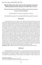 Bio fertilización del cultivo de la palma aceitera - Revista de la ...