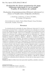 Evaluación de clones promisorios de papa - Revista de la Facultad ...