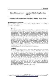 Identidade, consumo e sociabilidade: implicações éticas - Estudos e ...