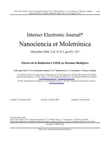 Efectos de la Radiación LASER en Sistemas Biológicos - Revista ...
