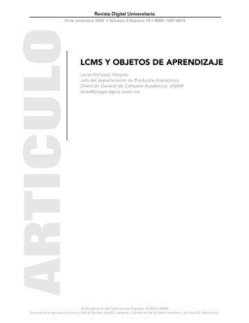 LCMS Y OBJETOS DE APRENDIZAJE - Revista Digital Universitaria