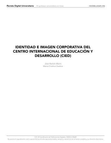 identidad e imagen corporativa del centro internacional de ...