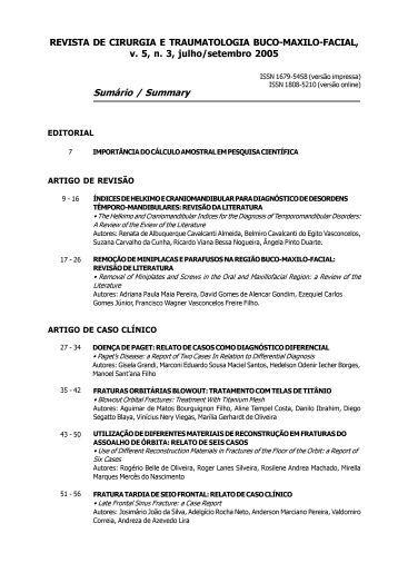 REVISTA DE CIRURGIA E TRAUMATOLOGIA BUCO-MAXILO ...